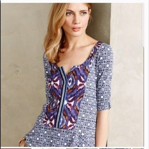 Anthropologie akemi Kin boho ikat top